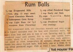mom's yum yum rum balls recipe