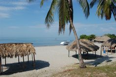 The beach at Bocachica, Cartagena, Colombia