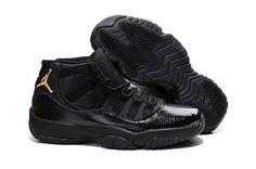 320a03d2843a 2016 Nike Air Jordan 11 XI Retro Snakeskin Pattern Mens All Black  Basketball Shoes 136046 043