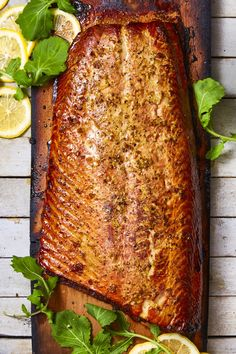 Honey-Ginger Cedar Plank Salmon goodhousemag