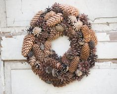 Pinecone wreath Any season wreath Christmas by florasense