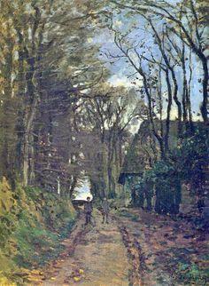 Lane in Normandy, 1868 by Claude Monet. Impressionism. landscape