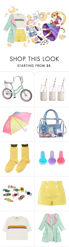 """Never let anyone tell you you're not a star"" by murasaki666 ❤ liked on Polyvore featuring Schwinn, Dress My Cupcake, Hansel from Basel, claire's and Boutique Moschino"