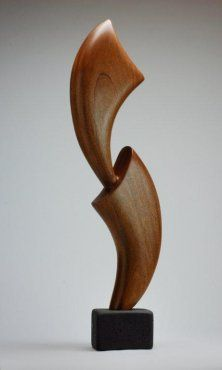 Hand Carved Tabletop Wood Sculpture
