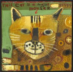 """""""This Cat is a Major Mouser"""" by Santa Fe artist Melinda Hall"""