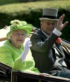 Queen Elizabeth II and Prince Philip at Royal Ascot day one. June 20 2017.