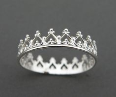 Silver Ring - You Are My Princess on Etsy, $24.00