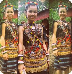 Borneo, Traditional Outfits, Ethnic, Sari, Textiles, Women's Fashion, Culture, Celebrities, Kids