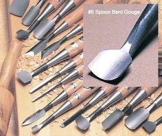 3/4 #8 Spoon Bent Gouge -Takahashi - The Japan Woodworker Catalog