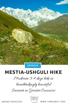 Multi-day trek from Mestia to Ushguli in Svaneti area, Georgia, is breathtaking. Hike days in amazing views over snow-topped Caucasus mountain peaks, glaziers and Svan villages. Travel Around The World, Around The Worlds, Hiking In Georgia, Caucasus Mountains, Day Hike, Where To Go, Trek, Planets, Cities