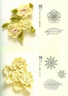 Patrones a crochet flores de primavera ~ lodijoella