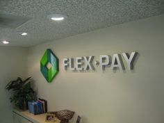 indoor signage - dimensional lettering for reception area