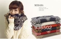 Fashion South Korean style Jacquard bump color unisex thermal wool knitting scarf Preferred Christmas gift $12.68