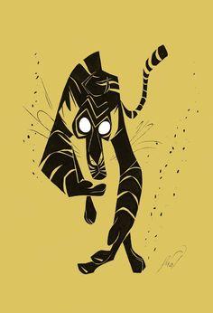Black Tiger by De'Von Stubblefield. (drawrstubbs.deviantart.com)
