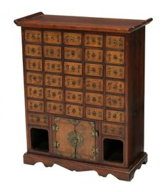 Chinese 32 Drawer Apothecary Cabinet On