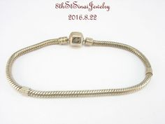 "Chamilia European Bead Charm Sterling Silver 925 Snap Bracelet 7.1"" 18cm BA-3…"