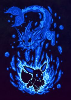 Water Evolution Within Anime & Manga Poster Print Cool Pokemon Wallpapers, Pokemon Backgrounds, Cute Pokemon Wallpaper, Pokemon Eeveelutions, Eevee Evolutions, Pokemon Memes, Pokemon Cards, Undertale Pokemon, Cute Animal Drawings