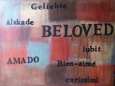 In any language, we are still His Beloved. #art #painting #Beloved #acrylicpaint