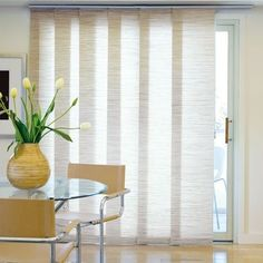 Roller Shades On A Sliding Glass Door Indoor Home Decor