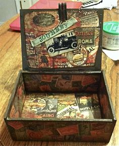 Guys Altered Cigar box (Inside) - Scrapbook.com