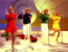 """Bucks Fizz, winner of the Eurovision Song Contest 1981 with """"Making Your Mind Up"""" for the United Kingdom"""