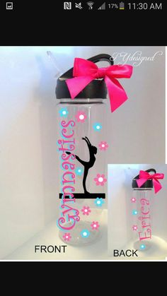 d251a40831 >>>Visit>> Gymnastics Water Bottle Personalized Custom Gymnast by PYdesigned