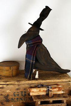 Crow Free Pattern Primitive Folk Art | primitive folk art crow doll this primitive crow doll was handmade by ...