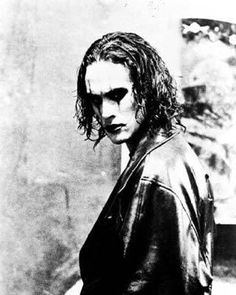 Brandon Lee, The Crow.  Brandon died mysteriously while filming this movie. So sad for the son of Bruce Lee.