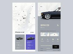 Rental Car App Created by Сubertodesign Web Design, Ui Design Patterns, Website Design Layout, App Ui Design, User Interface Design, Car App, Mobile Ui Design, Mobile App Ui, Screen Design