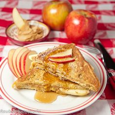 Apple Peanut Butter French Toast