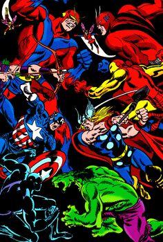 jthenr-comics-vault:  Cover Art FromThe Avengers King-Size Special #2 (1968)By John Buscema