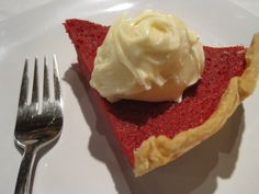 Red Velvet pie... not a recipe, but I'm going to have to find one..