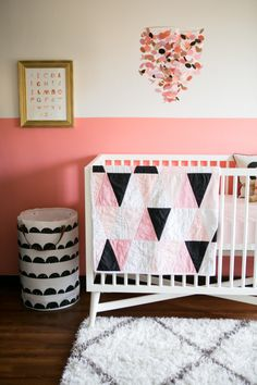pink and black nursery, it's perfect