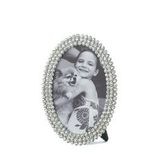 DAZZLING RHINESTONES OVAL PHOTO FRAME 4X6 PICTURE ~10016949