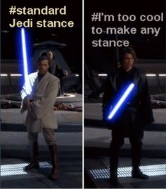 Standards Jedi Stance vs I'm Too Cool To Make Any Stance