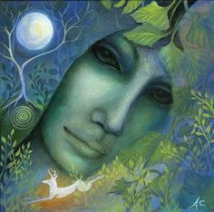 Amanda Clark artist and Illustrator. by earthangelsarts Divine Goddess, Goddess Art, Celtic Goddess, Goddess Pagan, Sacred Feminine, Divine Feminine, Illustrator, Clark Art, Winter Fairy