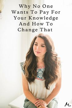 Marie Forleo shares 2 steps on how to get people to start paying for your knowledge. Creative Business, Business Tips, Online Business, Business Coaching, Business Meme, Business Education, Business Opportunities, Business Quotes, Marie Tv