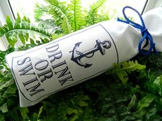 DRINK OR SWIM Sink Boat Nautical Party Lake Ocean by THEWINEBAG, $9.00