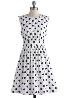 Too Much Fun Dress in Black Dots, @ModCloth
