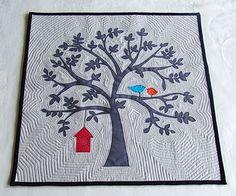 """Leafy Tree Tops created by Shayla M. Sharp - Raggie Girls  (find post here: http://raggiegirls.blogspot.com/2010/09/doll-quilt-swap-9-finished-big-sigh.html)"