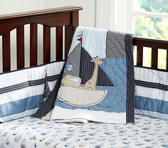 Row Your Boat Nursery Bedding - Pottery barn bedding for a boy