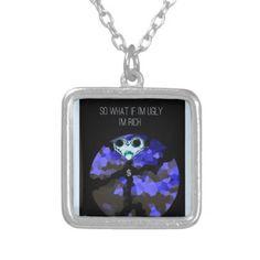 Rich boy joke design silver plated necklace - accessories accessory gift idea stylish unique custom