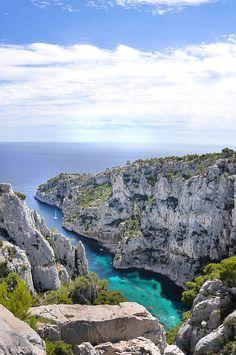 Une des plus belles calanques de #Marseille : la #calanque d'En-Vau.