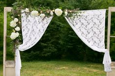 Transform the reception into something spectacular with just fabric and curtains. | 11 Ways To Make Your Wedding More Beautiful On A Budget