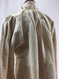 Antigüedades: Antigua camisa de lino - Foto 2 - 100025519