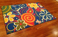 Whimsical Kids Area Rug -4'x6' Actual RUG Size Is 3'.10''x5'.6'' Nice Size - Printed Area Rug with Non Skid Backing 47 Inch X 65 Inch Kids Area Rugs, Kids Rooms, Rug Size, Whimsical, Printed, Nice, Happy, How To Make, Home Decor