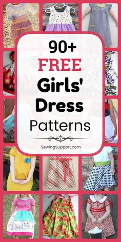 Free Dress patterns for Girls. Over 90 sewing tutorials and diy projects. - Free Dress patterns for Girls. Over 90 sewing tutorials and diy projects. Many simple and easy short - Baby Dress Pattern Free, Little Girl Dress Patterns, Baby Girl Dress Patterns, Baby Clothes Patterns, Summer Dress Patterns, Sewing Patterns For Kids, Sewing For Kids, Pattern Sewing, Sewing Diy