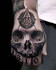 Best Skull Tattoos On Hand — Hand Tattoos Design Skull Tattoo Design, Skull Tattoos, Tattoo Designs Men, Body Art Tattoos, Sleeve Tattoos, Design Tattoos, Totenkopf Tattoos, Hand Tats, Tattoo Ideas