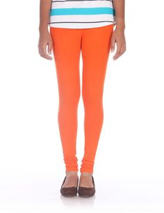 The attractive orange color leggings from prisma fashion shelter would suit for any occasion. The bright color will have a greater impact on appearance.