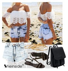"""Sheinside 3/III"" by aneela-57 ❤ liked on Polyvore featuring Satya, women's clothing, women, female, woman, misses and juniors"